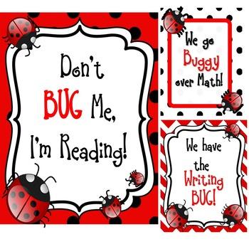 Ladybug Classroom Decor (Editable)