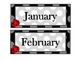 Ladybugs and Polka Dots Calendar Set with Name Plates and Classroom Labels