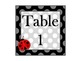 Ladybugs and Polka Dots Welcome Sign and Table Numbers