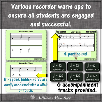 Soprano Recorder Song ~ Lady Come Interactive Visuals {Notes GABCD}