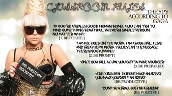 Lady Gaga 5 P's Classroom Poster