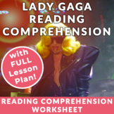 Lady Gaga - Advanced English/ESL Reading w/activities & FU