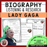 Distance Learning Music Lady Gaga Research and Music Liste