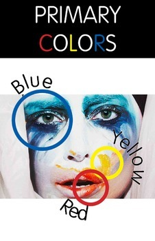 Lady Gaga Primary Color Poster