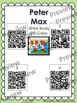 Lady Liberty Painting QR Code Peter Max Art Lesson