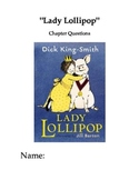 """""""Lady Lollipop"""" Chapter and Comprehension Questions"""