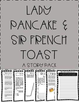 Lady Pancake & Sir French Toast NO PREP Story Pack!  Just print and go!