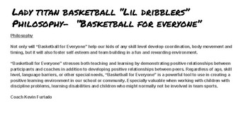 Lady Titan Little Dribblers Club Program