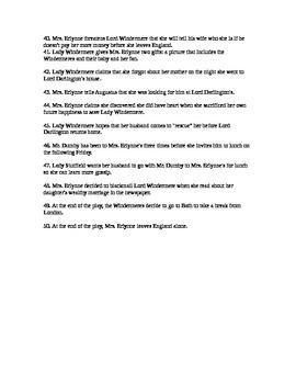 Lady Windermere's Fan Test