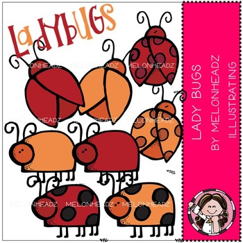 Lady bug stuff clip art - COMBO PACK- by Melonheadz