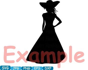 Lady dress model moda school clipart svg props party photo Valentine's  -284s