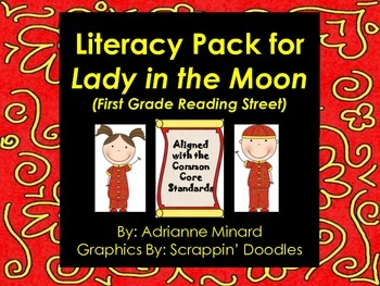 UPDATED! Lady in the Moon Literacy Pack for First Grade Foresman Reading Street