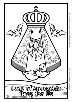 Lady of Aparecida Coloring - Catholic