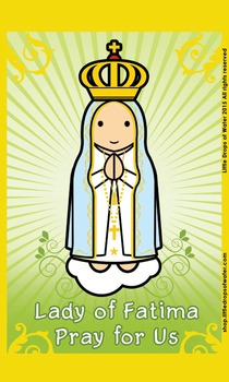 Lady of Fatima Flash Card