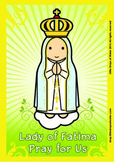 Lady of Fatima Poster - Catholic