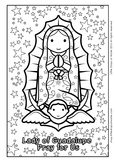 Lady of Guadalupe Coloring - Catholic
