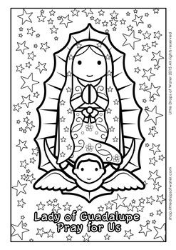 Lady of Guadalupe Coloring - Catholic