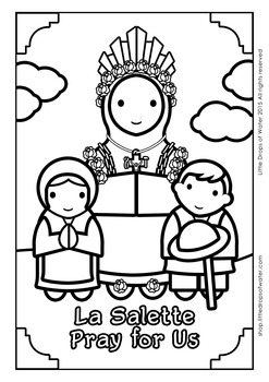Lady of La Salette Coloring - Catholic