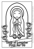 Lady of Lourdes Coloring - Catholic
