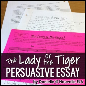 the lady or the tiger argumentative essay by nouvelle ela tpt the lady or the tiger argumentative essay