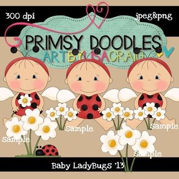 LadyBug Babies 300 dpi clipart