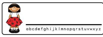 LadyBug Kids Theme Desk Nameplates (Set of Four)