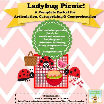 LadyBug Picnic: A Complete Packet for Articulation, Categorizing & Comprehension