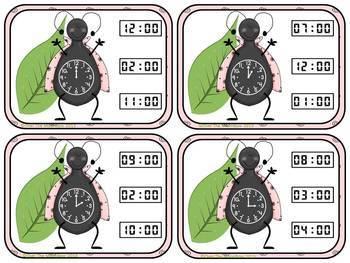 LadyBug Time Bundle –Time on the Hour & Half-Hour Math Centers