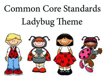 LadyBugKids 1st grade English Common core standards posters