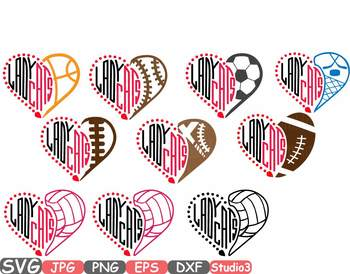 LadyCats Silhouette SVG Cutting Files clip NFL nba mlb ncaaf volley-ball -735S