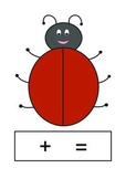 Ladybird (Ladybug) Mat . Number bonds to 10. Adding Mat.