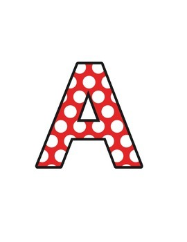 Ladybird Polka Dots (upper/lowercase, cursive, numbers, shapes, symbols)