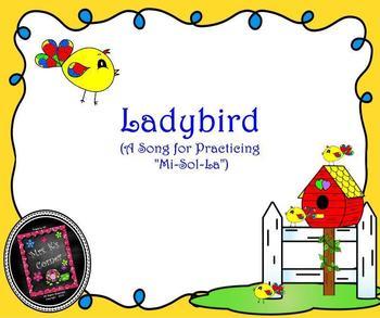 """Ladybird: Song for Practicing """"Mi-Sol-La"""" - SM NTBK Edition"""
