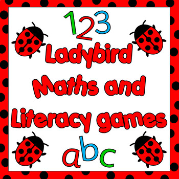 Ladybird themed math and literacy centres -8 games