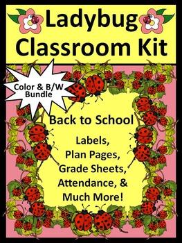 Ladybug Teacher Binder: Ladybug Classroom Kit and Lesson Planner