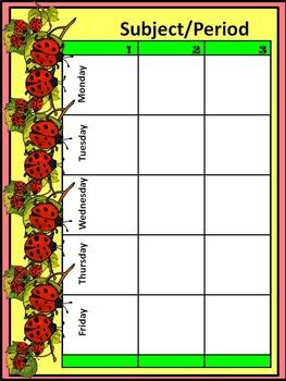Ladybug Theme Classroom Kit: Lesson Planner/Teacher Binder & Grade Book Bundle