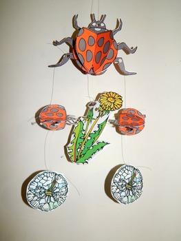 Ladybug Craft Activities: Ladybug Mobile Spring-Summer Craft Activity