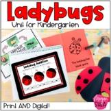Ladybug Activities for Kindergarten: Print and Digital for