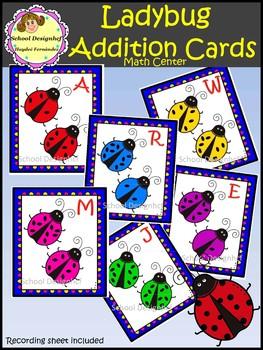 Ladybug Addition Cards - Math Center (School Designhcf)