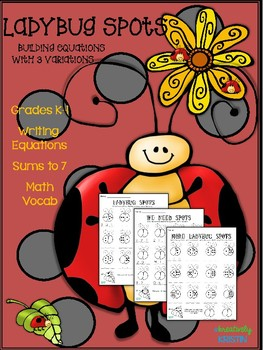 Ladybug Addition Equations for K-1 {No-Prep}