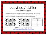 Ladybug Addition Write the Room