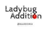 Ladybug Addition file folder game