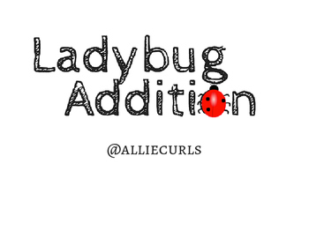 Ladybug Addition file folder game