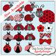 Ladybug Alpha Red and Black Polka Dots
