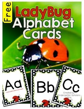 Ladybug Alphabet Classroom Display Cards