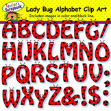 Ladybug Alphabet Clip Art