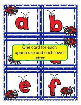Ladybug Alphabet Match, Memory, and Flashcards!