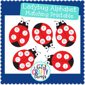 Ladybug Alphabet Matching Printable FREE