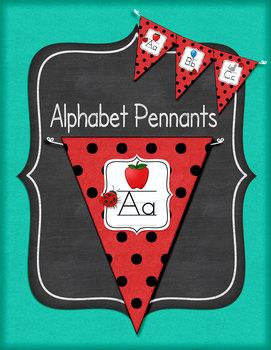 Ladybug Alphabet Pennants