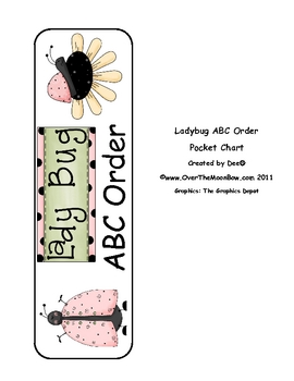 Ladybug Alphabet Pocket Chart Activity